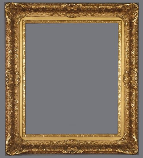 Late 19th C. / early 20th C. American gilded Louis XIV style frame.
