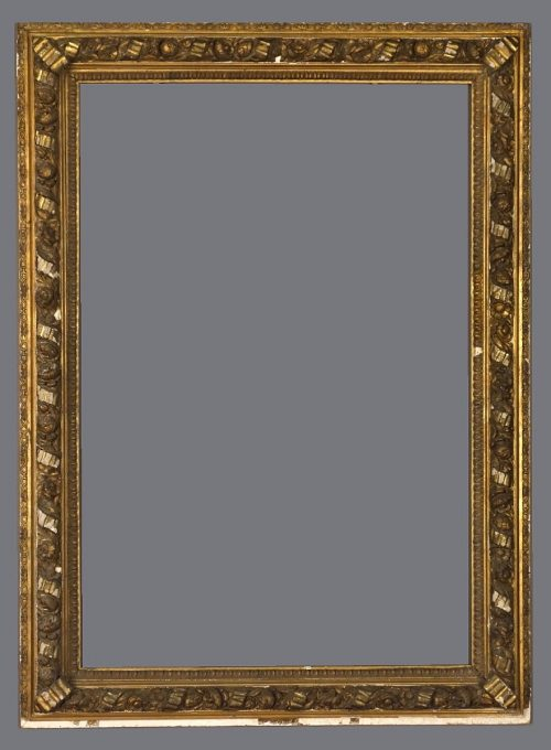 Late 19th C. American gold leaf frame in the 15th C. della Robbia style.