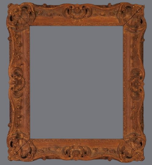 19th C. French carved oak frame in the Louis XV style