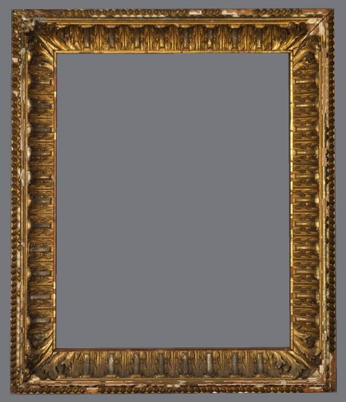 Late 19th C. American gold leaf and applied ornament frame.