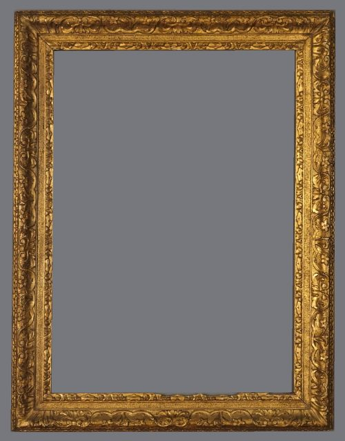 !8th C. European carved, gold leaf frame in the Louis XIV style.