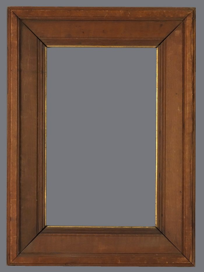 Late 19th C. American wood frame with a sloping frieze.