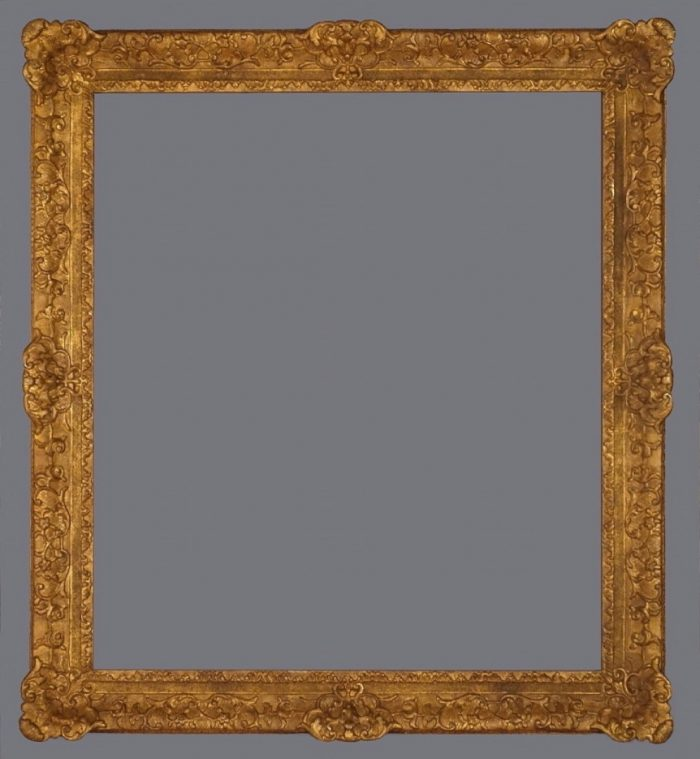 20th C. American carved gold leaf replica Louis XIV style frame