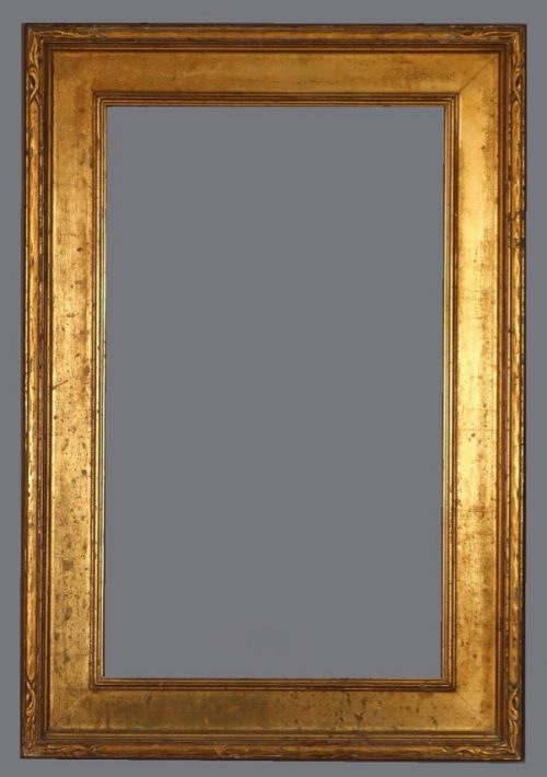 Early 20th C. American Impressionist carved and gilded frame