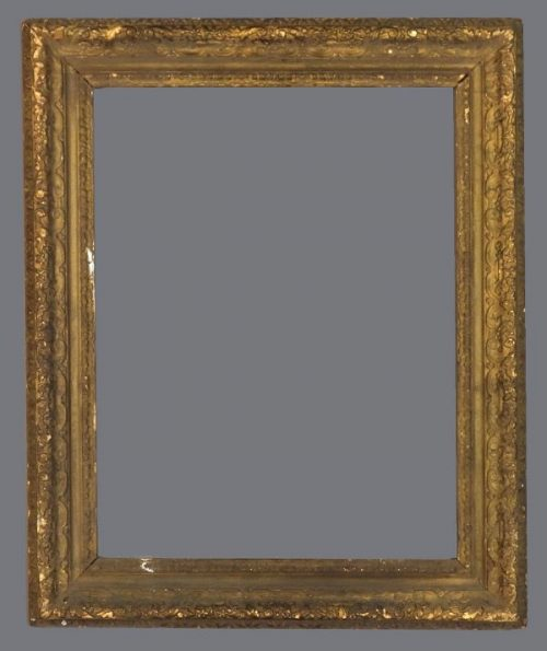 I8th or 19th C. French carved and gilded frame in the Louis XIV style.
