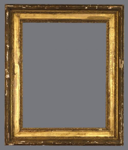 19th C.Italian  gold leaf frame with carved and applied ornament.