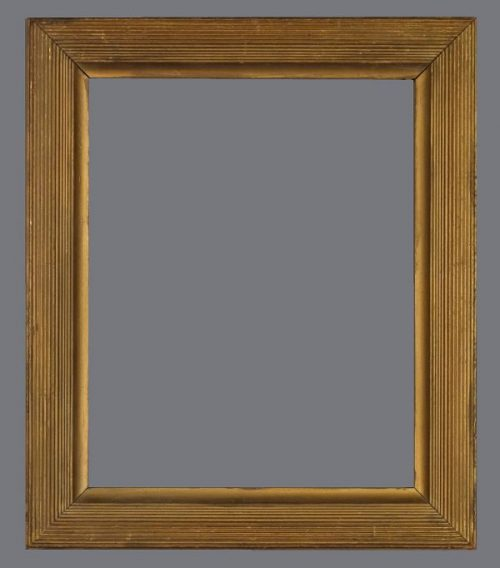 Early 20th C. American gilded frame with reeds in the Degas style.