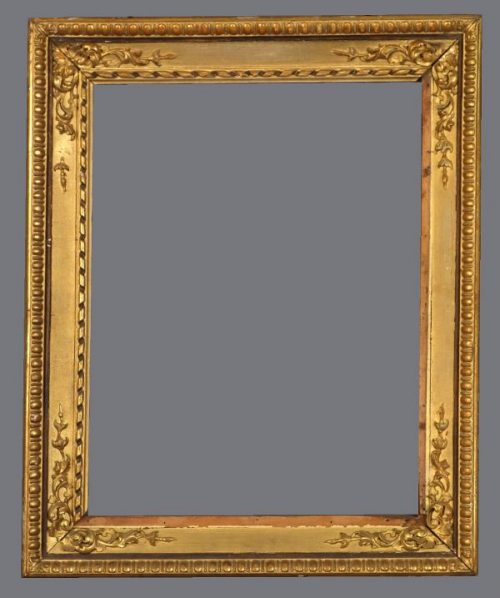 Late 19th C. Italian carved, gold leaf cassetta frame.