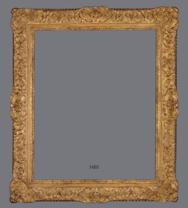 18th C. French carved gold leaf Louis XIV frame