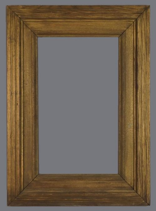 Late 19th, early 20th C. American gilded oak frame
