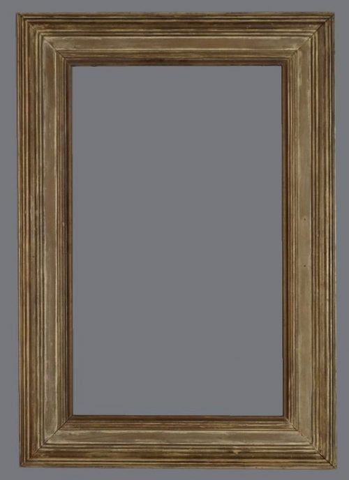 Early 20th C. American wood frame with a dark finish and gray wash.
