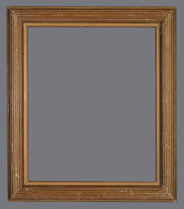 Early 20th C. American brass leaf frame in the Degas style with overpaint.
