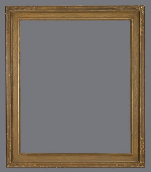 Early 20th C. carved American Arts and Crafts, Newcomb Macklin style bronzed frame