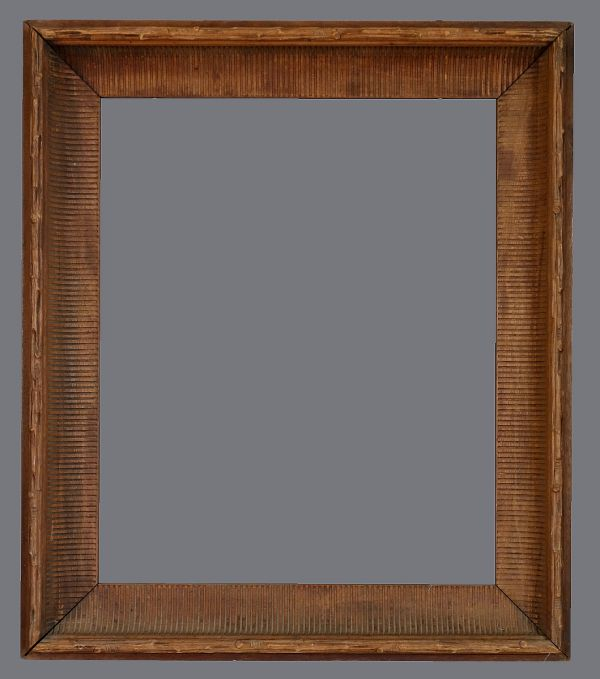 Mid 19th C. American walnut fluted cove frame.