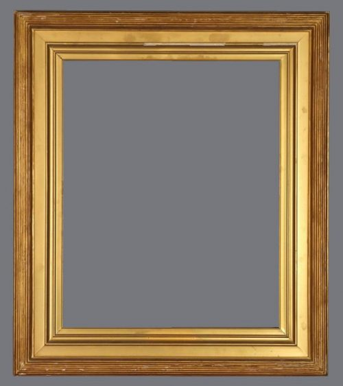Late 19th C. American reeded and gilded frame