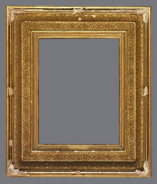 Late 19th C. American gold leaf Orientalist frame with applied ornament.