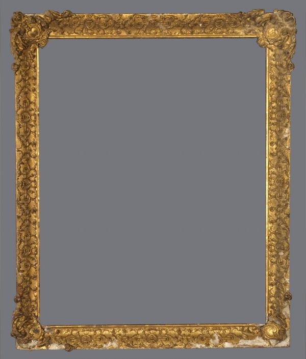 Early 19th C. American or English gold leaf, applied ornament frame