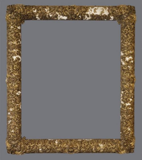 Early 19th C. American gold leaf frame in the Thomas Cole style with applied ornament.