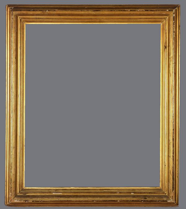 Late 19th C. American gold leaf, reeded frame