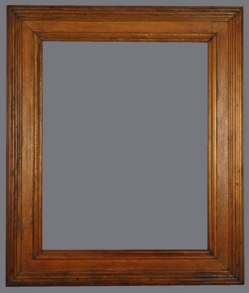 Late 19th C. American heavy oak cassetta frame
