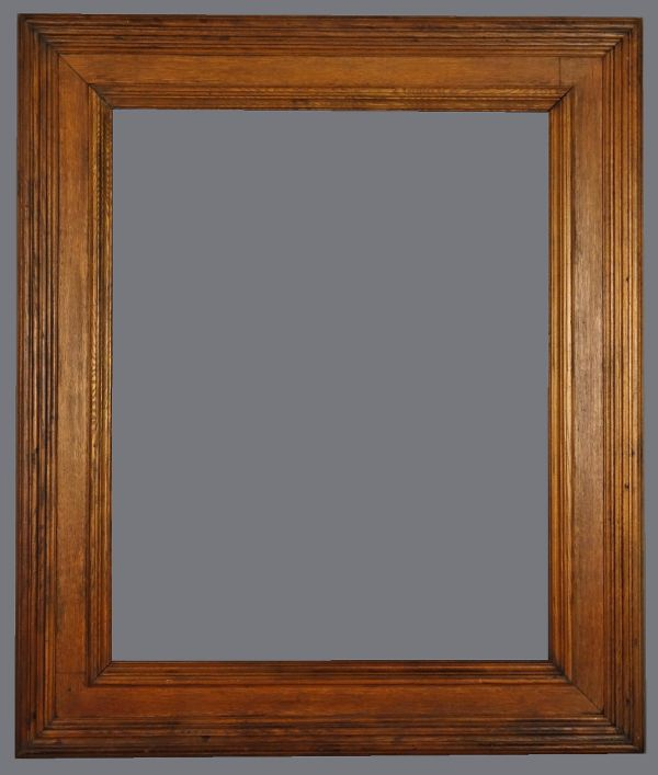 Late 19th C. American heavy oak cassetta frame