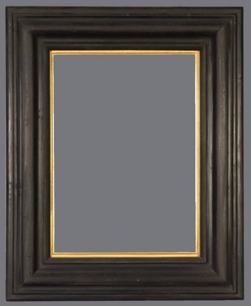 19th C. European ebonized reverse frame