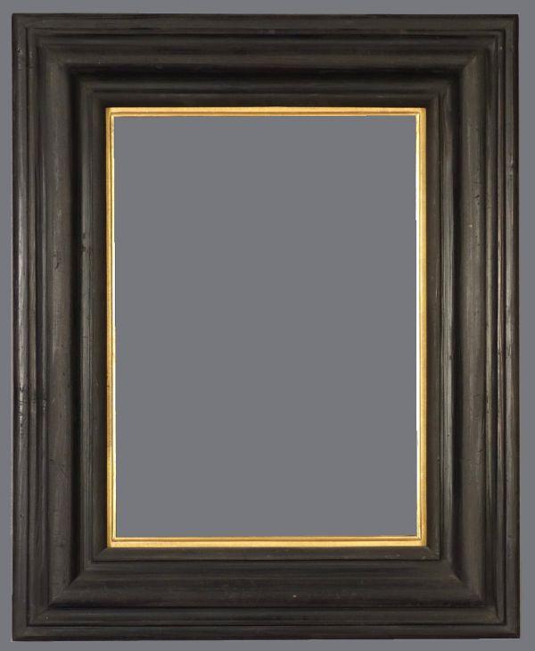 19th C. European ebonized reverse frame
