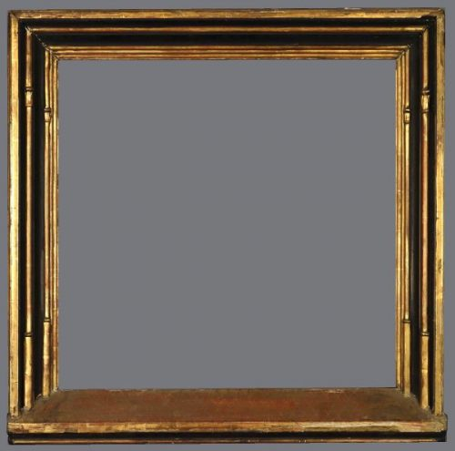 19th C. gold leaf and ebonized Tabernacle frame in the 15th C. Northern European style