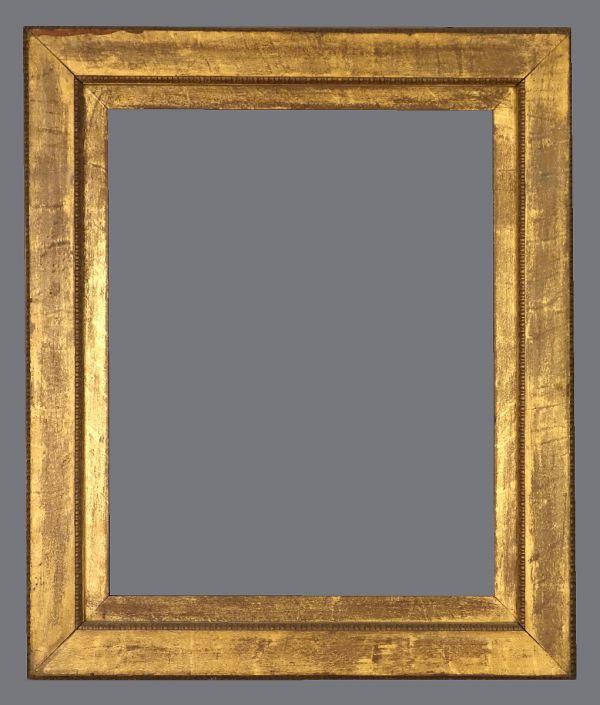 Late 19th C. American, gilded oak, flat frame.