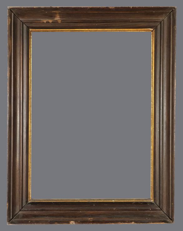 Late 19th C. faux bois frame in the style of 17th C. Dutch frames.