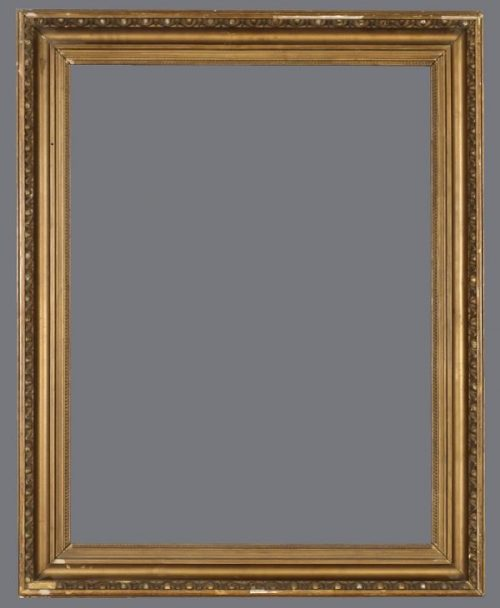 19th C. American bronzed cove frame