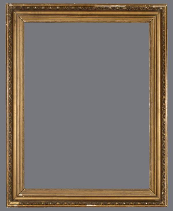19th C. American bronzed cove frame