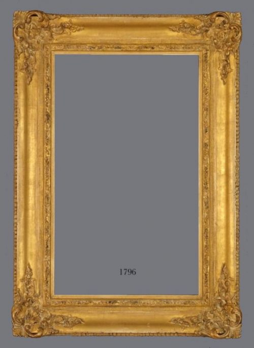 20th C. Dutch carved, gold leaf frame in the 18th C. French Regence style.