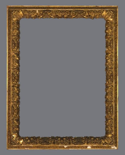 Late 19th C. gold leaf Barbizon outer frame with applied ornament