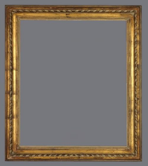19th C. French carved and gilded, Louis XVI style frame.
