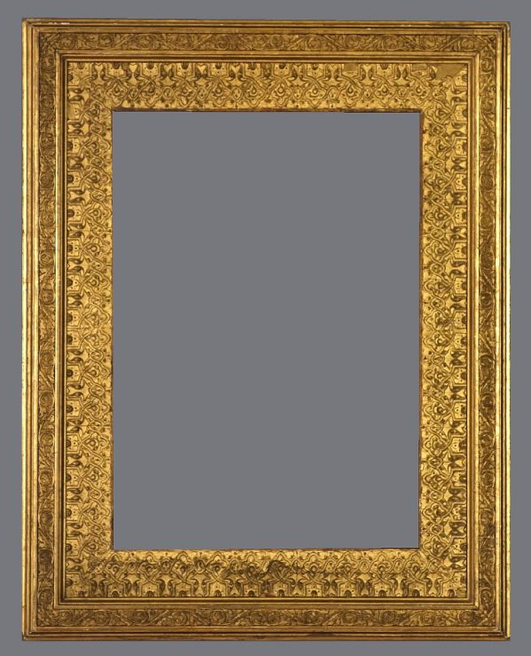 Late 19th C. American Orientalist frame with applied ornament and gold leaf