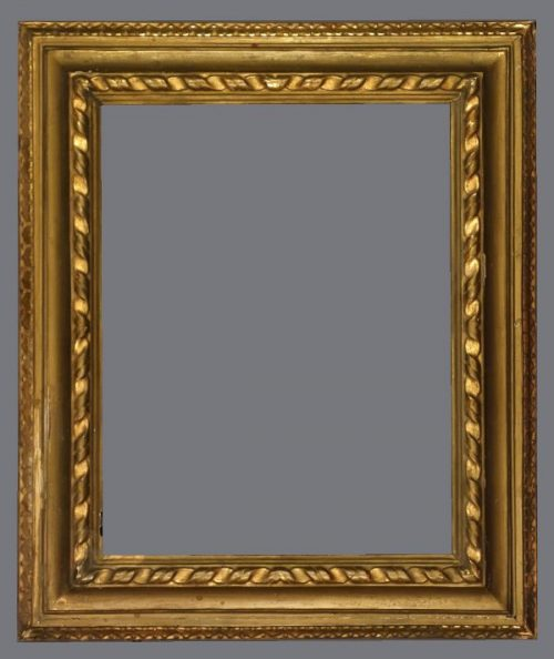 19th C. Italian reverse profile, carved and gilded frame.