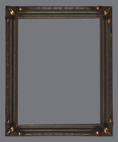 "Early 20th C. Roman gilded ""piecrust"" corners frame."