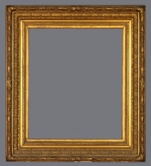 Late 19th C. American applied ornament, gold leaf frame