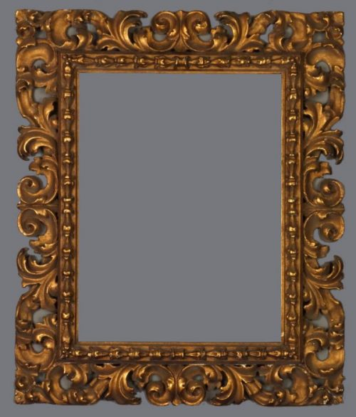 Late 19th C. carved and gilded reverse profile frame in the 17th C. Florentine style.
